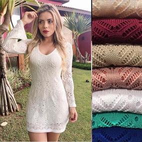 Kit 10 Vestidos Curto Feminino Linha Trico Croche