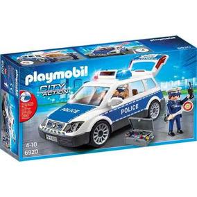 Auto Policia Con Luces Y Sonido Playmobil R3211