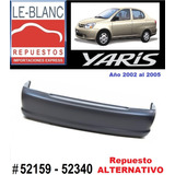 Parachoques Trasero Yaris 2002 - 2005 Repuesto Alternativo