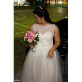 Vestido De Noiva Modelo Princesa, Usado