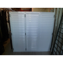 Postigon Aluminio Blanco 150x110 Tres Hojas