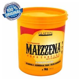 Maizzena P/cabelos Alisa Natural Glatten 1kg Frete Grátis Mg