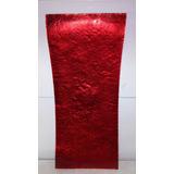 Fruteira De Vidro Luxo Vermelha Vidro