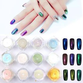 Polvo Efecto Espejo Xl Profesional 12 Colores Uñas Gelish