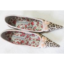 Sapato De Oncinha Salto Agulha 10 Cm Tam 37 Martinez