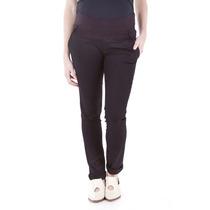 Vm Pantalon Lapiz Gabardina Elastizada Negro, T0, Negro