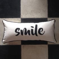 Almohadón 20x50 Frases Smile