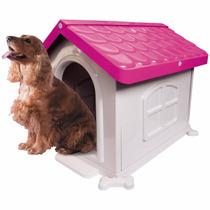 Casinha Cachorro Médio Porte Desmontável Nº 3 Pet Injet Rosa