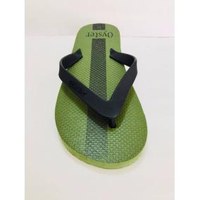 Sandalia Para Playa Hombre Oyster Verde/negro