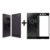 Forro Carbono Fiber+ Vidrio 2.5d Sony Xperia Xa1 Ultra G3223