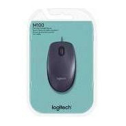 Mouse Usb Optico Logitech M100 Preto