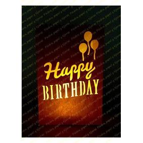 Luminaria De Papel Con Luz Led Happy Birthday Paq. De 10