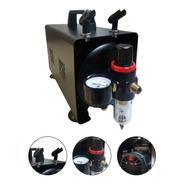 Mini Compressor As 18 Bivolt Para 2 Aerografos Com Filtro