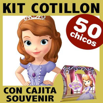 Sofia Princesa Kit Combo Vasos Platos Cajita Souvenir X50