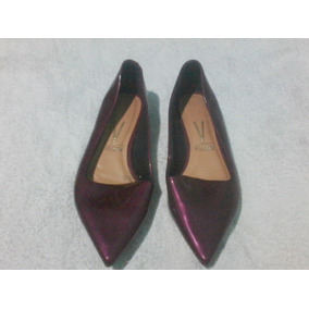 Sapato Feminino Vermelho Verniz -n 36 Bico Fino