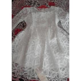 Vestido Branco Noiva Civil Reveillon Renda Bordado Mangas