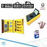 Multimetro Digital + Caixa De Ferramentas 38 Peças P/celular