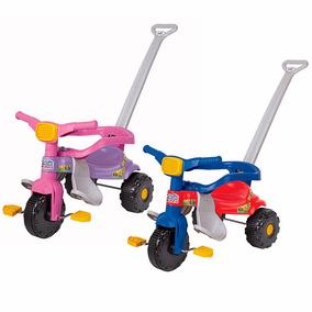 Triciclo Infantil Tico Tico Com Empurrador E Aro Protetor