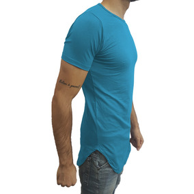 Camiseta Long Masculina Oversized Swag Longline Viscose