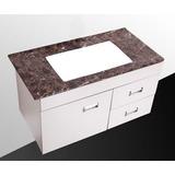 Mueble Isla Madera Blanca Para Lavamanos 88 X 45.5 X 48.5 Cm