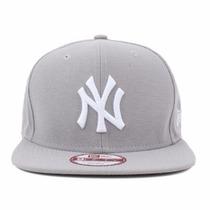 Boné Aba Reta New Era 9fifty Ny Yankees Cinza Original Fit