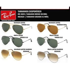 Ray-ban Aviador Original 50% Desconto Garantia E Brinde
