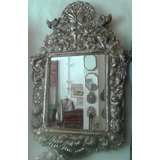 gran marcos estilo colonial barroco espejo alpaca platada - Espejos Plateados