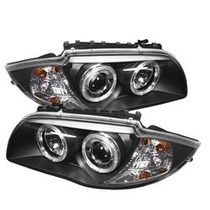 Farol Projector Angel Led Bmw S1 E87 E81 04/11 Black + Xenon