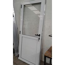 Puerta De Aluminio Exterior 1/2 Vidrio Modena Reforzada