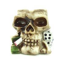 Cinzeiro Cranio Dado Esqueleto Decorativo Caveiro Resina