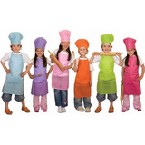 Combo Gorro + Delantal De Chef Para Niños Infantil Juvenil