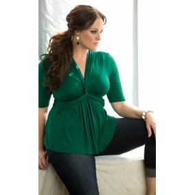Blusa Feminina Plus Size Decote V Tamanhos Grandes