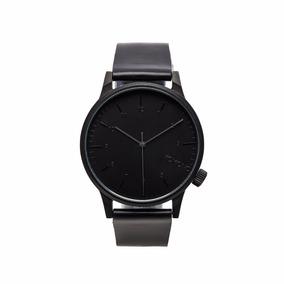 Reloj Komono Winston Regal Black Reloj Correa De Cuero Negro