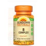 Sundown Naturals Complexo B - 100 Tablets - Original Lacrado