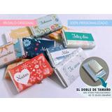 Souvenir Chocolate Personalizado X 10u. -regalo Original-