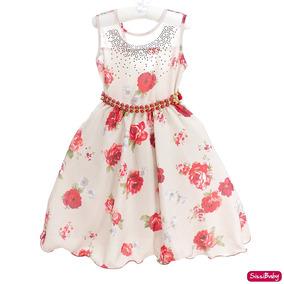 Vestido Infantil Floral Daminha Unicórnio Promoção 4 A 16