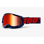 Antiparras 100% Espejadas Rojo Strata 2 Masego Atv Motocross