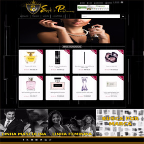 Loja Virtual Pronta Perfumes Importados C/blog, Redessociais