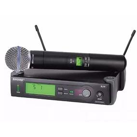 Microfone Shure Sem Fio Slx24 Beta 58 Novo