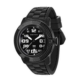 Glam Rock Hombre Negro Gr Sobe Negro Reloj Silicio Watch