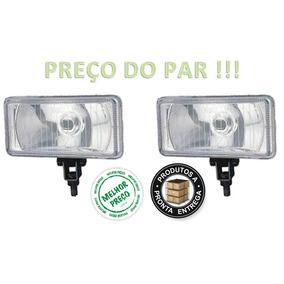 Farol Milha Aux.retangular Carcaça Ferro Universal Vidro Par