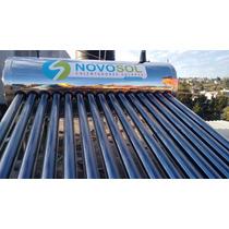 Calentador Solar Novosol 173 Litros 4-6 Personas 15 Tubos