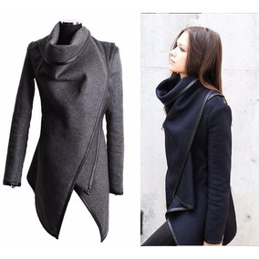 Abrigo Saco Poncho Chamarra Moderno Mujer Moda Japonesa