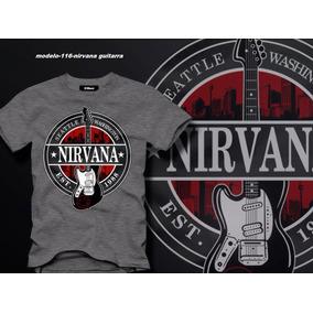 Remera Bandas Rock Nirvana Guitarra
