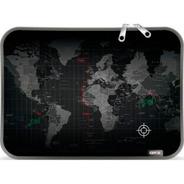 Funda Notebook Neoprene Premium 14 15,6 Pulgadas Mapa