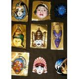 Mascaras Antiguas De Porcelana .adornos Colgantes .reventa