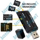 Lector Tarjetas Sd Micro Sd Adaptador Memoria Sd Externo Usb