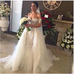 Vestido Noiva Casamento Sereia Com Armação Bordado Rodado