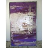 Cuadro Pintura Morados Abstracto Arte Decoracion