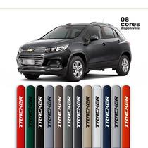 Friso Pintado Para Chevrolet Tracker Preto Ouro Negro